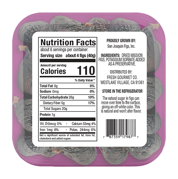 Mission Figs - Nutrition Facts